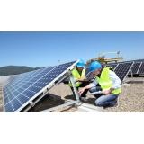 montagem de painel solar Macatuba