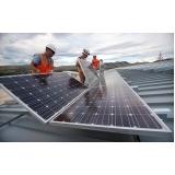 montagem de placa solares Anhembi
