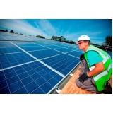 montagem de placa solares